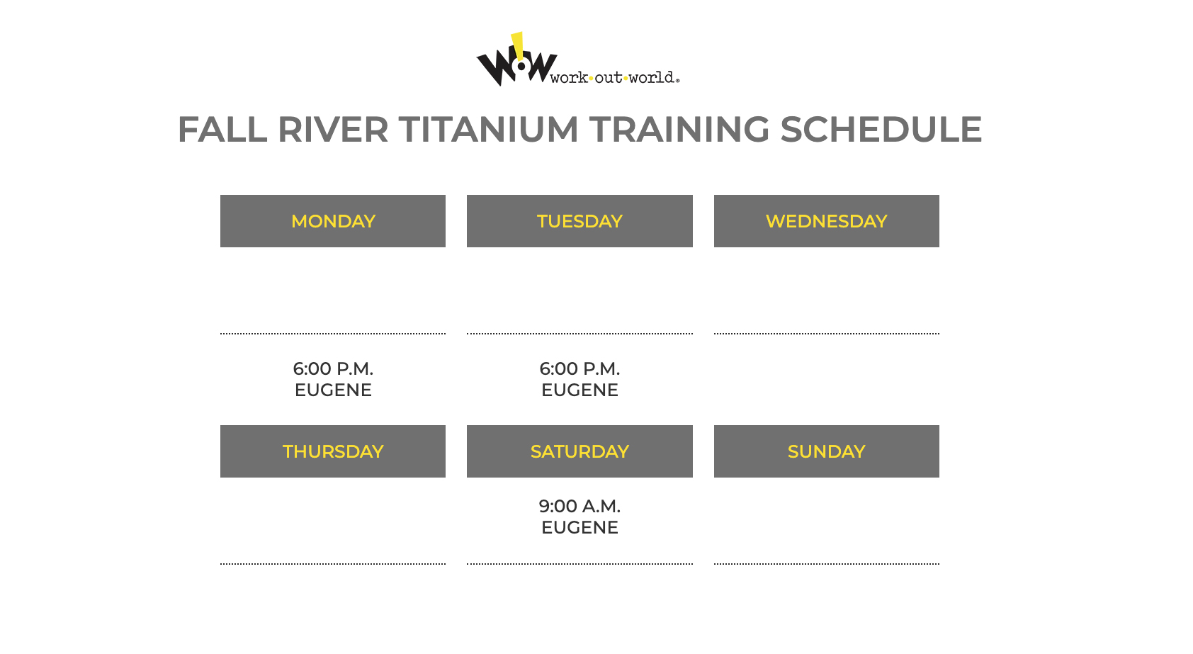FALL RIVER - Work Out World New England